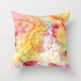 Mandala Water Color II Throw Pillow
