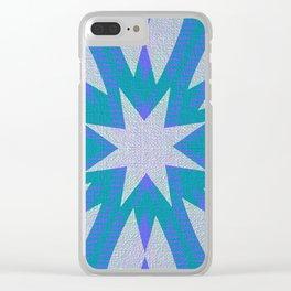 Blue Shadows Clear iPhone Case
