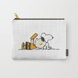 Snoopy And Charlie Brown Carry-All Pouch