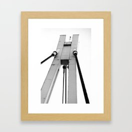 Architecture detail of a bridge Framed Art Print