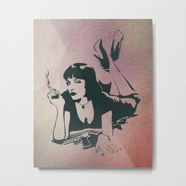 Pulp fiction, Mia Wallace Metal Print