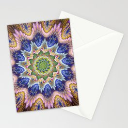 Groovy textured kaleidoscope design Stationery Cards