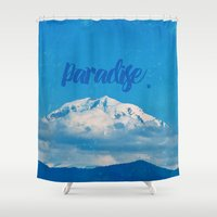 paradise Shower Curtains featuring Paradise by RDelean