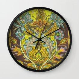 Lush yellows & Browns Wall Clock