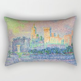 The Papal Palace, Avignon Rectangular Pillow