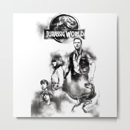 Jurassic World Part 2 Metal Print