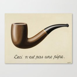 The Treachery of Images by Rene Magritte Canvas Print