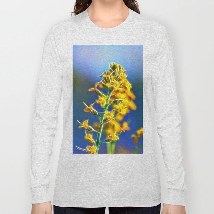 Brassica Rapa Long Sleeve T-shirt by unfocussed