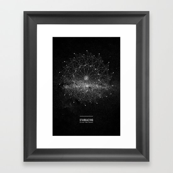 STARGAZING IS LIKE TIME TRAVEL Framed Art Print