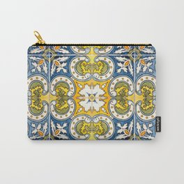 Seamless Floral Pattern Ornamental Tile Design : 8 Carry-All Pouch