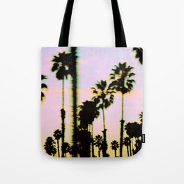 California Dreaming Palm Trees Sunset Tote Bag