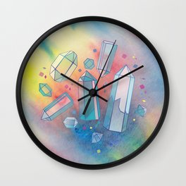 Quartz crystals Wall Clock