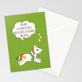St. Patrick's Day Unicorn 3 Stationery Cards