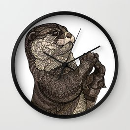 Infatuated Otter Wall Clock