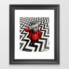 Homage to Twin Peaks - Fire walk with me Framed Art Print