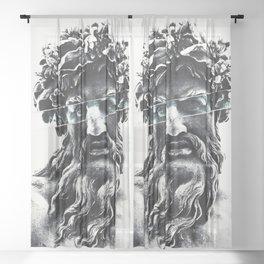 Zeus the king of gods Sheer Curtain