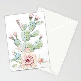 Cactus 3 White #society6 #buyart Stationery Cards