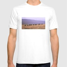 Horse Line Mens Fitted Tee MEDIUM White