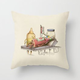 Emergency Transfusion  Throw Pillow