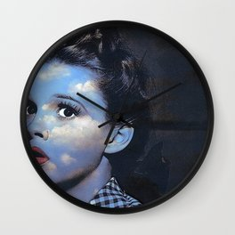 Judy in Clouds I Wall Clock