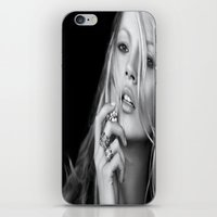 kate moss iPhone & iPod Skins featuring KATE MOSS by I Love Decor