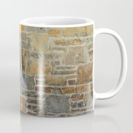 Avondale Brown Stone Wall and Mortar Texture Photography Coffee Mug