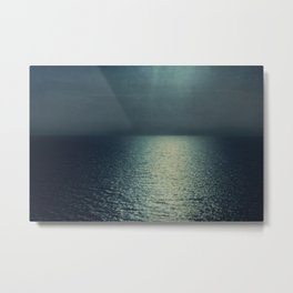 sea - emerald sunset Metal Print