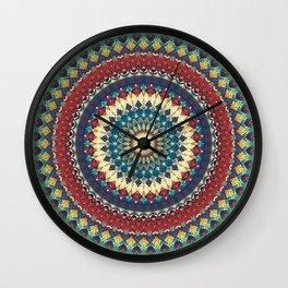 Earth Mandala 1 Wall Clock