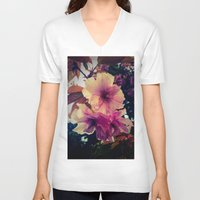 blossom V-neck T-shirts featuring Blossom by Monica Georg-Buller