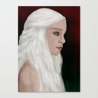 mother of dragons Canvas Prints featuring Mother of Dragons by Sarah Elizabeth