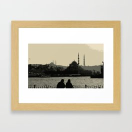 couple in Istanbul Framed Art Print