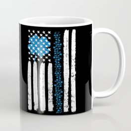 Thin Blue Line St Patricks Police Flag Coffee Mug