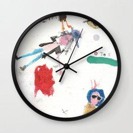 Intergalactic dudes Wall Clock