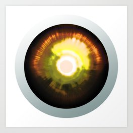 Bright Sun Eye - Graphic Design Art Print