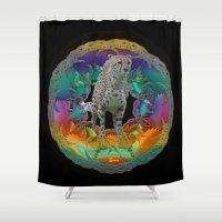 cheetah Shower Curtains featuring Cheetah by bizwings
