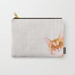 Cute ginger curious cat Carry-All Pouch