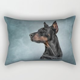 Drawing Doberman dog  6 Rectangular Pillow