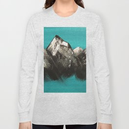 Turquoise Mountains by Noelle's Art Loft Long Sleeve T-shirt