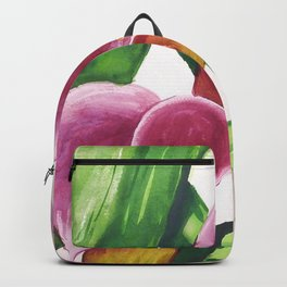 Red Callalilly enlarged in watercolor Backpack