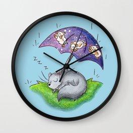 April Snooze Wall Clock
