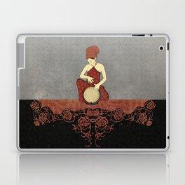 Rastafari Woman on Bongo Drum Laptop & iPad Skin