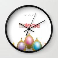 madoka Wall Clocks featuring Puella Magi Madoka Magica by Rachel Choi
