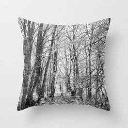 Winter Forest scenic. Throw Pillow