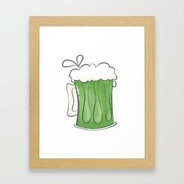 Saint Patties Day Beer Framed Art Print