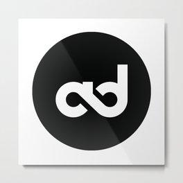 Alvarez Designs Logo B&W Metal Print