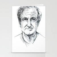 robin williams Stationery Cards featuring Robin Williams by Andrew Brennan