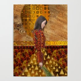 Woman in Red and Gold Poster