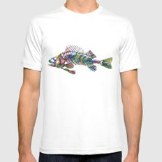 FISH White MEDIUM Mens Fitted Tee