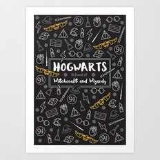 HOGWARTS School of Witchcraft and Wizardy Art Print