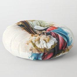Joseph Mary and Jesus Floor Pillow